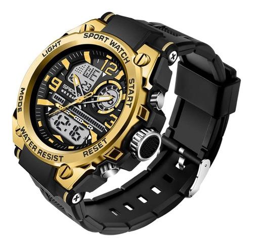 Relógio Masculino Sanda 6024 Militar Fundo Claro Original
