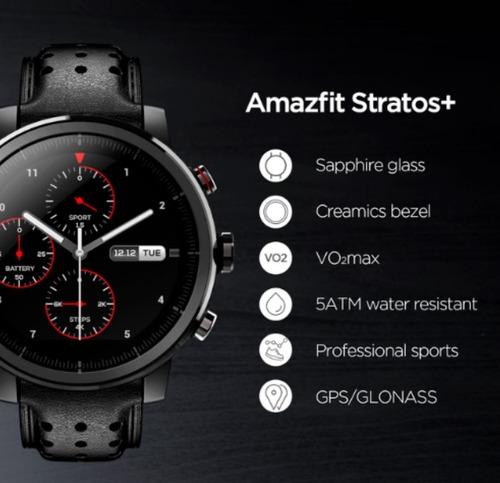 Stratos 2s Plus Edição Premium Vidro De Safira E 2 Pulseiras
