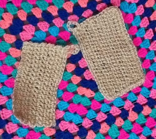 Esponja Tejida Crochet Con Hilo Yute. Biodegradable