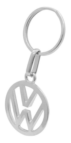 Chaveiro Metal Logo Vw Fusca Tl Tc Gol Parati Voyage