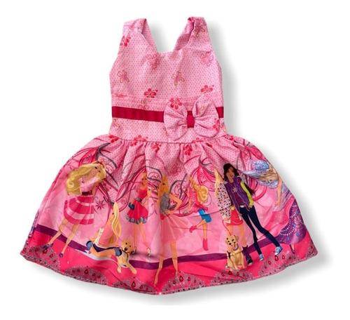 Vestido De Festa Infantil Temático Barbie