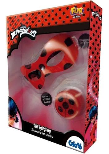 Ladybug Kit Médio Com Máscara E Ioiô Com Luz - Fun