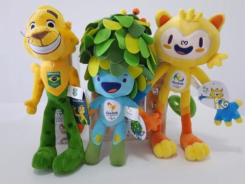 Mascotes Olimpiadas Rio 2016 Tom , Vinicius E Ginga Natal