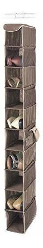 Estantes Colgantes De Zapatos Whitmor - 10 Secciones - Organ