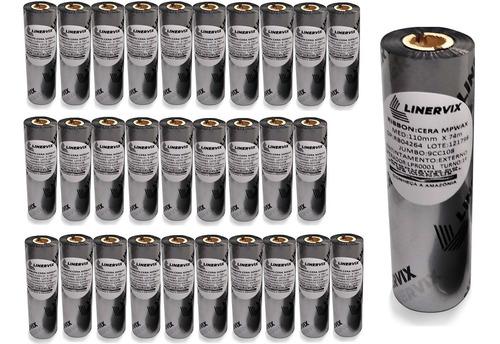 30 Rolos Ribbon Cera 110x74 Para Impressoras Argox Os 214plus Elgin L42 E Pro Zebra Tpl 264 Tlp 2844 Gc420 Gk420t