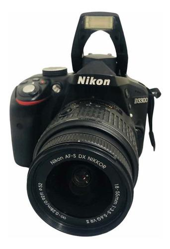 Câmera Nikon D3300 C Lente 1855 Seminova 18.440 Cliques Nf