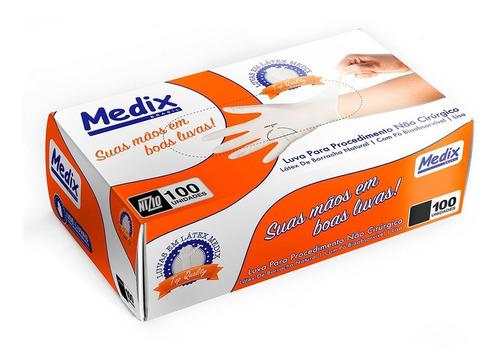 Luvas Descartáveis De Látex Com Pó De Procedimento Medix