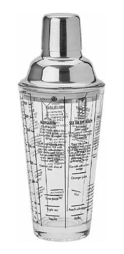 Coqueteleira Vidro Inox 450ml Drinks Caipirinha Com Receitas