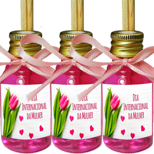 50 Mini Difusor Lembrancinhas Dia Da Mulher