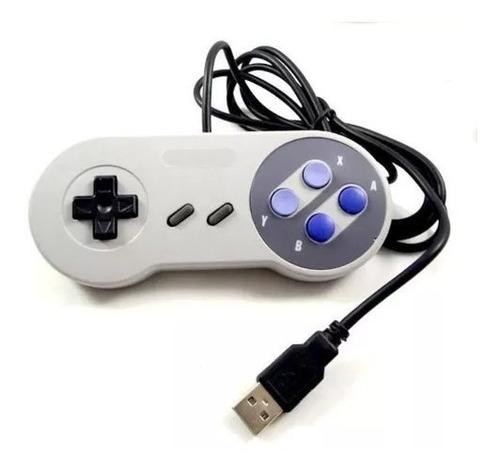Kit 4 Controle Usb  Video Game Super Pad Snes Joystick Retro