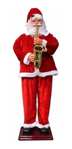 Boneco Papai Noel Saxofone Violino 1,80 M Dança Canta Natal