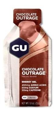 Gu Energy Gel Chocolate Caja 24 Con Cafeína