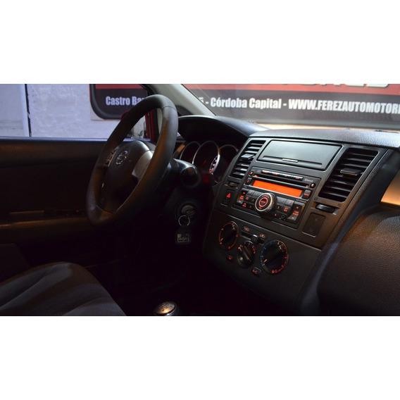 Nissan Tiida Visia 1.8 6mt Rojo 2014 Nafta/gnc
