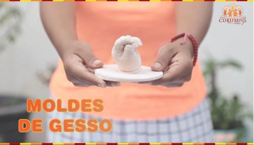 Escultura De Mão Ou Pé Do Bebê, Kit Completo Bacurizin
