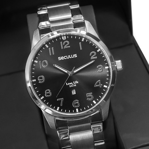 Relógio Masculino Seculus Prata Long Life Original Barato