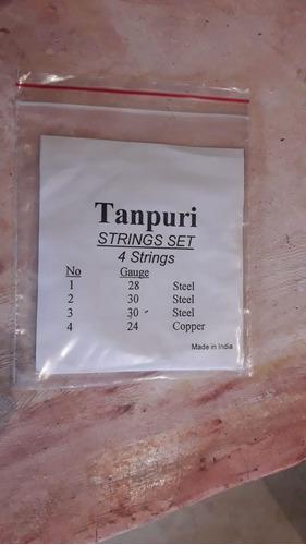 Cuerdas Para Tambura Tampuri String Set De 4