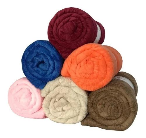 2 Mantas De Casal Microfibra Cores Lisas Cobertor Promoção