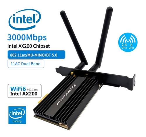 Placa Wifi Intel Pcie Dual Band 3000mbps Bluetooth 5.0 Gamer