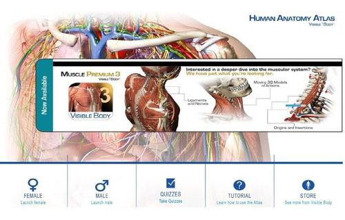 Programa De Anatomía, Visible Body, Anatomia En 3d, Medicina