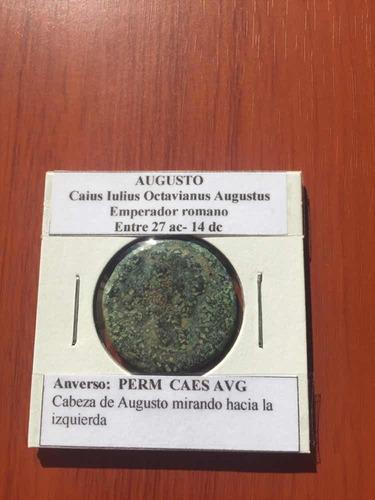 Antigua Moneda Romana Del Emperador Augusto