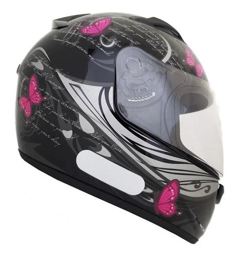 Capacete Moto Feminino Ebf New Spark New Borboleta Nf