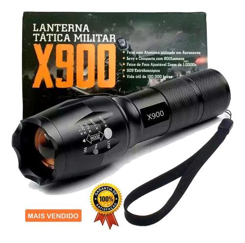 Lanterna X900 Zoom Recarregável
