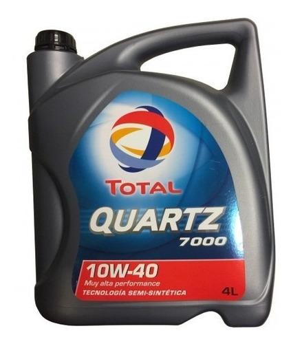 Aceite Total Quartz 7000 Semisintetico Nafta 10w40 4 Litros