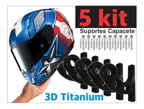 Kit 5 Suporte De Parede Para Pendurar Capacete E Acessórios