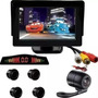 Kit Monitor Fixo Sensor Preto E Câmera Borboleta Fiat 500