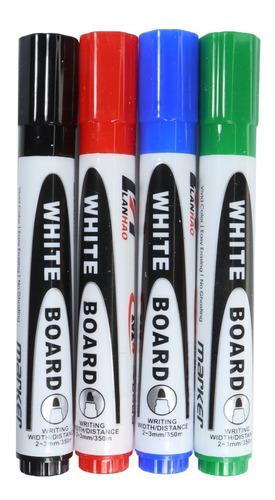 Set 4 Marcadores Para Pizarrón Blanco Colores Pintarron Vaga