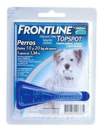 Frontline 1.34 Ml X 1 Pipeta, Perros De 10 A 20 Kg