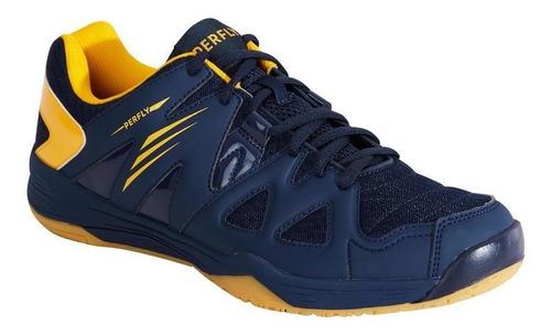 Calçado Masculino Badminton/squash Bs 530 - Cor Azul-amarelo