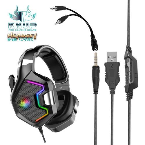 Fone Headset Gamer Pc Ps4 Xbox One Cel Microfone Led 7.1 Rgb