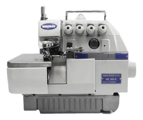 Máquina De Coser Industrial Overlock Hércules He360-5 Blanca 110v