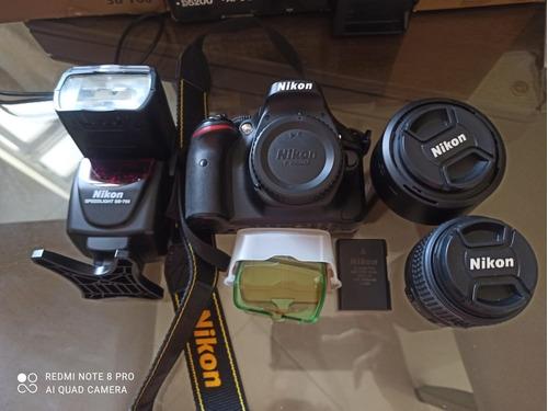 Equipamento Fotografico Nikon Camera D5200 Lente 50mm Flash
