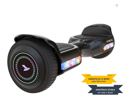 Skate Elétrico Hoverboard Atrio 6,5 Pol Color Fun Led Es356