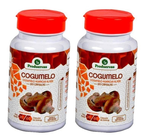 Cogumelo Do Sol 120 Cáps 500mg + Cloreto Magnésio Sachê 2p