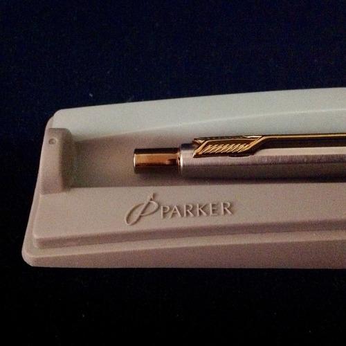 Bolígrafo Parker En Acero Nuevo