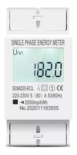 Medidor Consumo De Energia Monofásico Kwh 220v Ac 60hz 80a