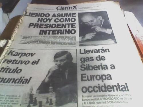 Diario Clarin 1981 Horacio Tomas Liendo Presidente Interno