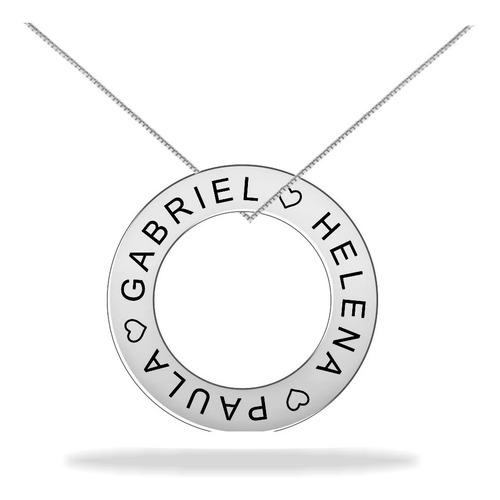 Colar Mandala Nomes Personalizados Em Prata 925