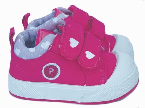Zapatilla Infantil De Nena Con Abrojo Reforzada 18 Al 24
