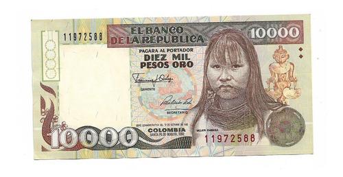Billete Colombia 10000 Pesos 1992 Pick 437a  S/c