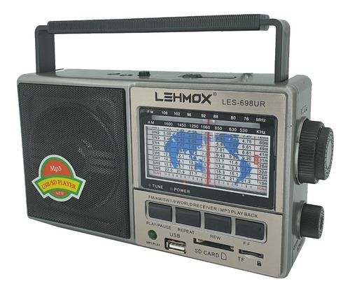 Rádio Portátil  11 Faixas Com Função Usb/sd Am Tf Fm