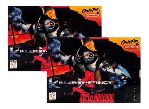 2 Unidades Juego Killer Instinct Nuevo Para Super Nintendo
