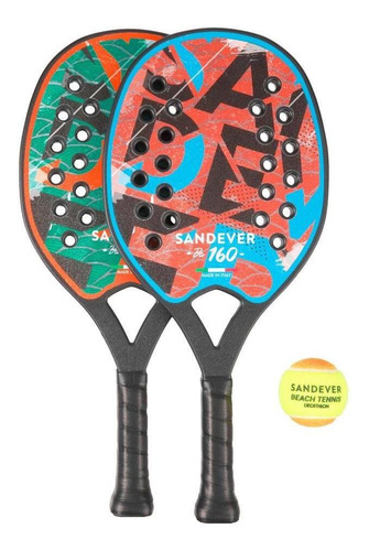 Kit Raquete De Beach Tennis Btr 160