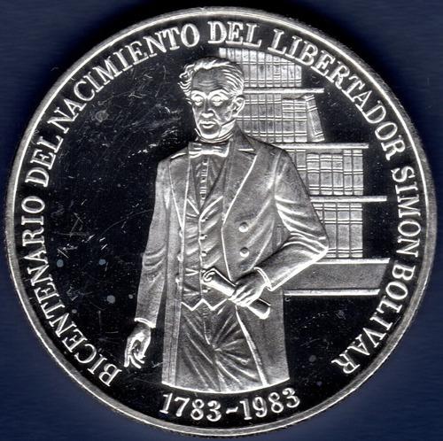 Moneda Plata Del Bicentenario Del Nacimiento Del Libertador