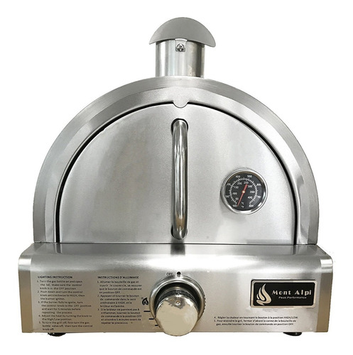 Horno De Pizza Acero Inoxidable A Gas + Piedra Para Pizza