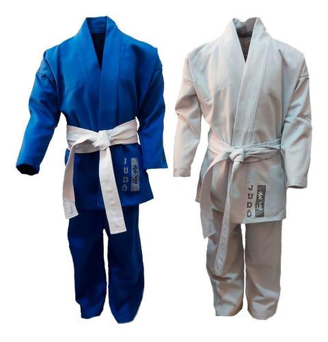Kimono Infantil Judô Reforçado + Faixa Branca Grátis