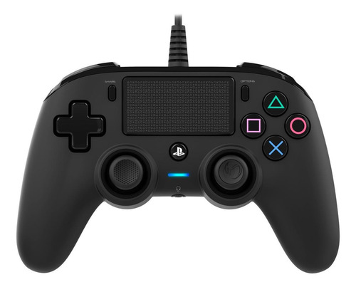 Controle Joystick Nacon Wired Compact Controller For Ps4 Preto